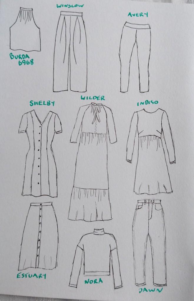 Line Drawings of my Make Nine